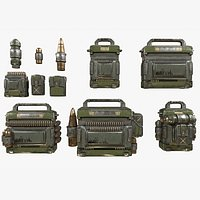 Sci-fi Military Kits Bag Canister Container - Kitbash