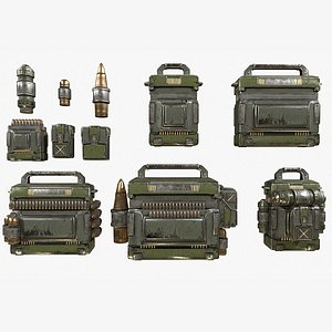 military kits bag canister 3D