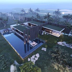 modern beach villa model