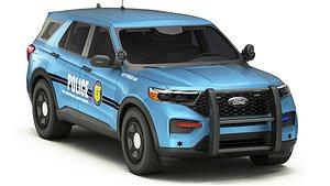 3D Car Police 3 model