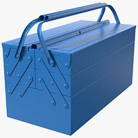 Steel Toolbox with 5 Compartments Blue