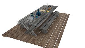 tavern table subjects 3D model