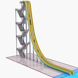 water slide model