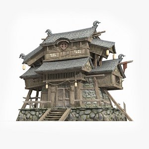 ancient asian tall 3D model