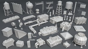 Building Roof Collection - 3 - 40 pieces 3D model
