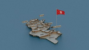 tunisia state cities 3D model