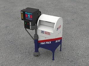 Back to the Future – Pac Fax Mail Collection Box 3D model