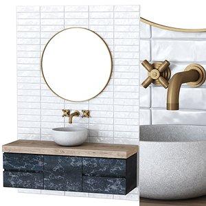 furniture set bathroom model