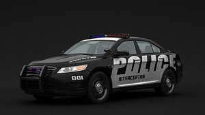3D taurus 2010 police model