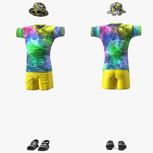 Beach Style Clothes Set 3D