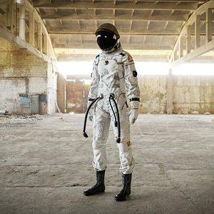 Female Space Suit 3D Model model