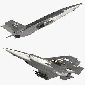 3D model FA35C Autonomous Fighter Jet