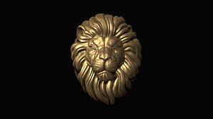 print lion head 3D model