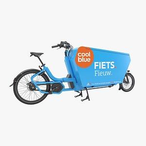 Cool blue delivery bike 3D model