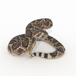 snake viper reptile 3D model