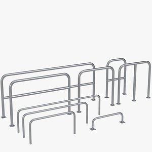 Perimeter hooped barriers 3D model