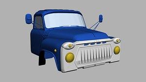 Gaz 53 cabin 3D model