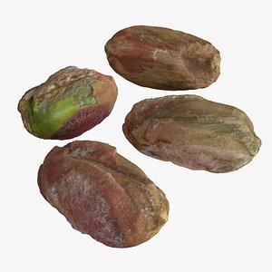 Pistachio Nut Kernels 3D