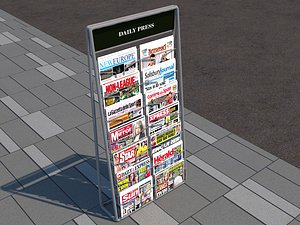 3D newspaper stand model