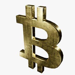 3D symbol gold bitcoin