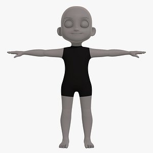 base mesh boy character 3D model