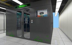 3D Machine room data center mining machine server