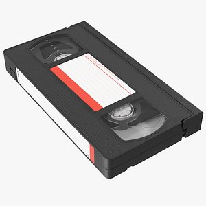 Vintage Sony E180 VHS Video Tape 3D model