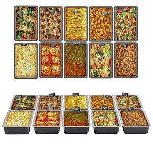 line food meal 3D model