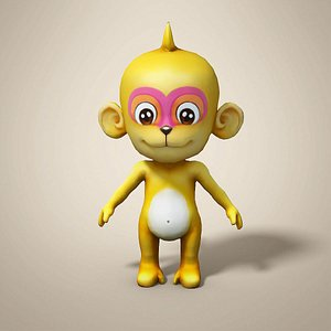 monkey cartoon 3D
