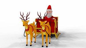 Fur Cartoon Santa Claus model