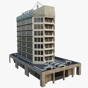 city street work building 3D model