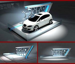 3D exhibition car model