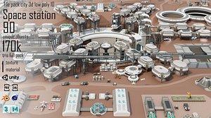3D model pack city 10 space