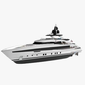 3D Sapphire Luxury Yacht Dynamic Simulation model