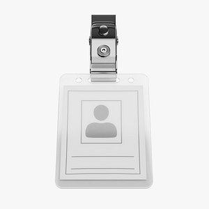 3D model Name Badge 2