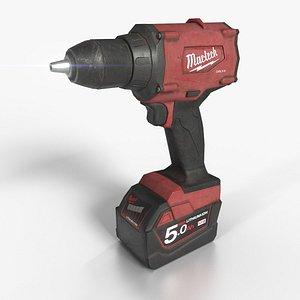 cordless screwdriver 3D
