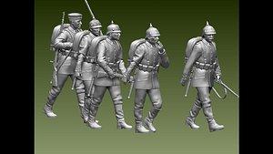 German soldiers ww1 3D model