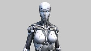 3D cyborg robot android