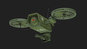Lowpoly PBR Military Drone 3D model