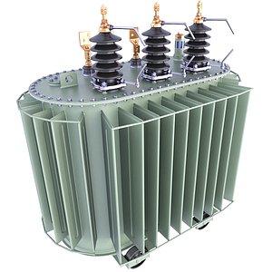 3D model transformer power distribution