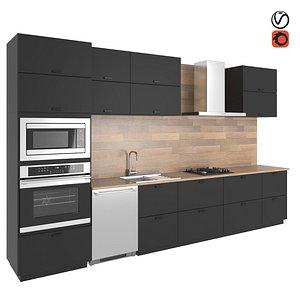 3D kitchen kungsbacka model