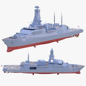 3D type 26 frigate