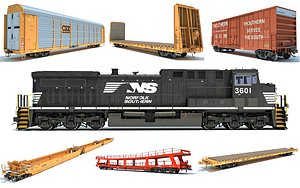 train freight norfolk 3D model