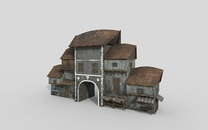 games house buildings 3D model