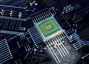 Chip CPU processor 3D model