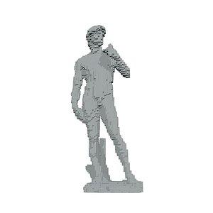 3D pixel david model