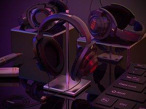 Headphone Headphone Headphone Wireless Headphone Ear Player Headset Audio Equipment Ear Cover Comput 3D model
