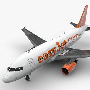 3D model AirbusA319-100EASYJETL1424