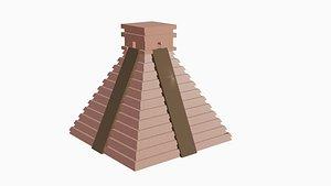 maya pyramid model