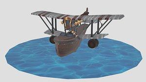 Cartoon Boat AirPlane 3D model